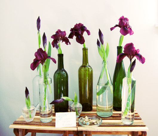 Flower Arrangements In Wine Bottles