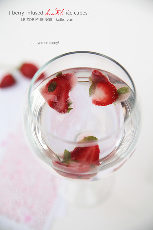 berry infused heart ice cubes8