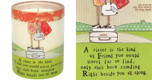 curly girl candle