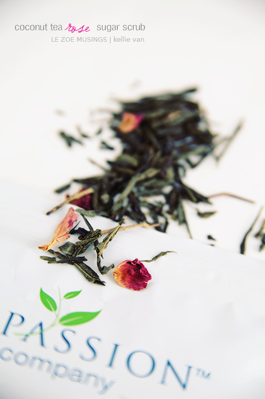 diy coconut tea rose sugar scrub3