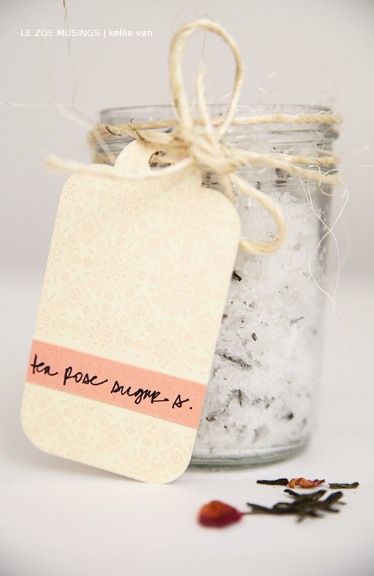 diy coconut tea rose sugar scrub4