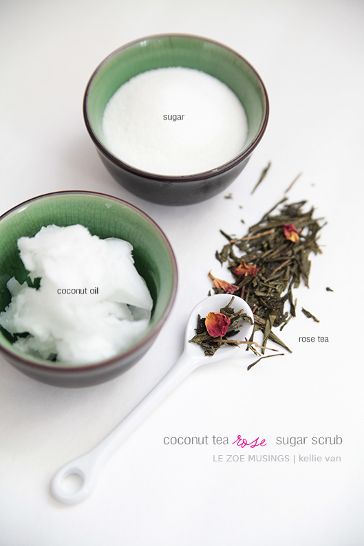 diy coconut tea rose sugar scrub8