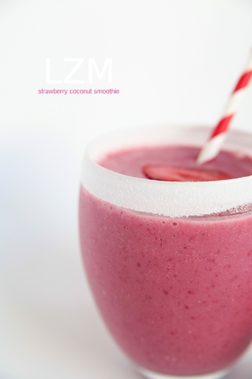 strawberry coconute smoothie2