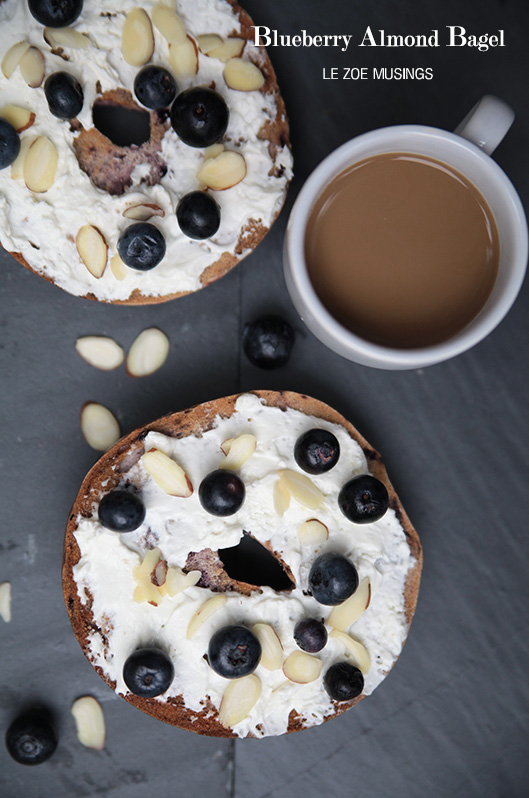 BLUEBERRY ALMOND BAGEL