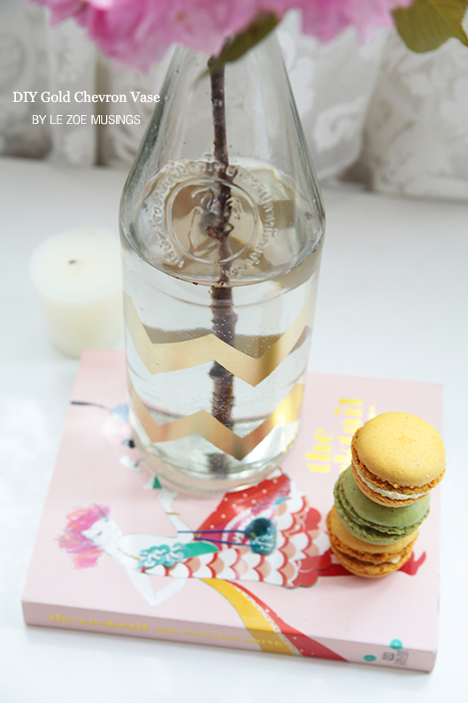 diy gold chevron vase4