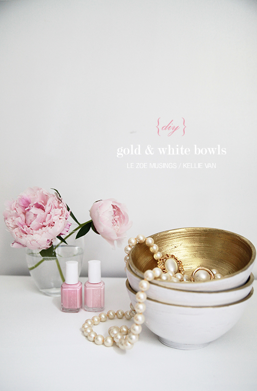 diy gold and white bowls6