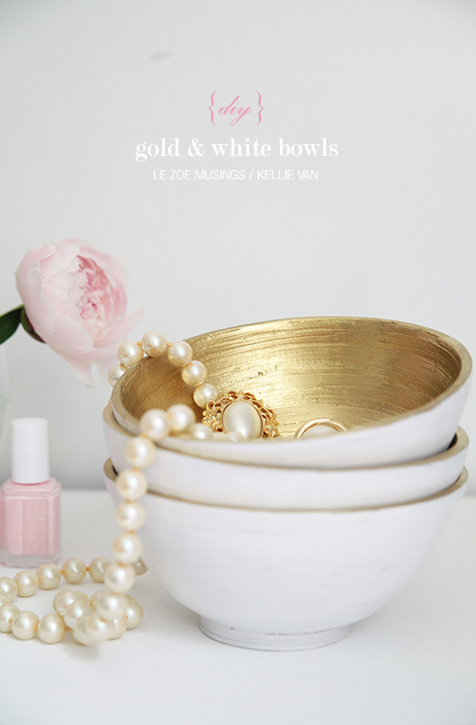 diy gold and white bowls92