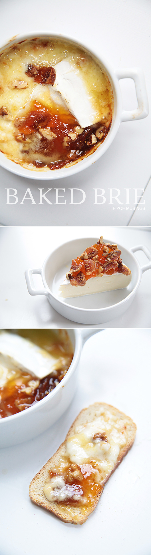 Baked Brie With Apricot Jam, Figs, Walnuts | LE ZOE MUSINGS