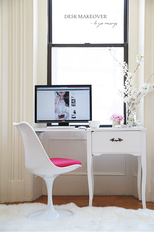 desk makeover1 by le zoe musings
