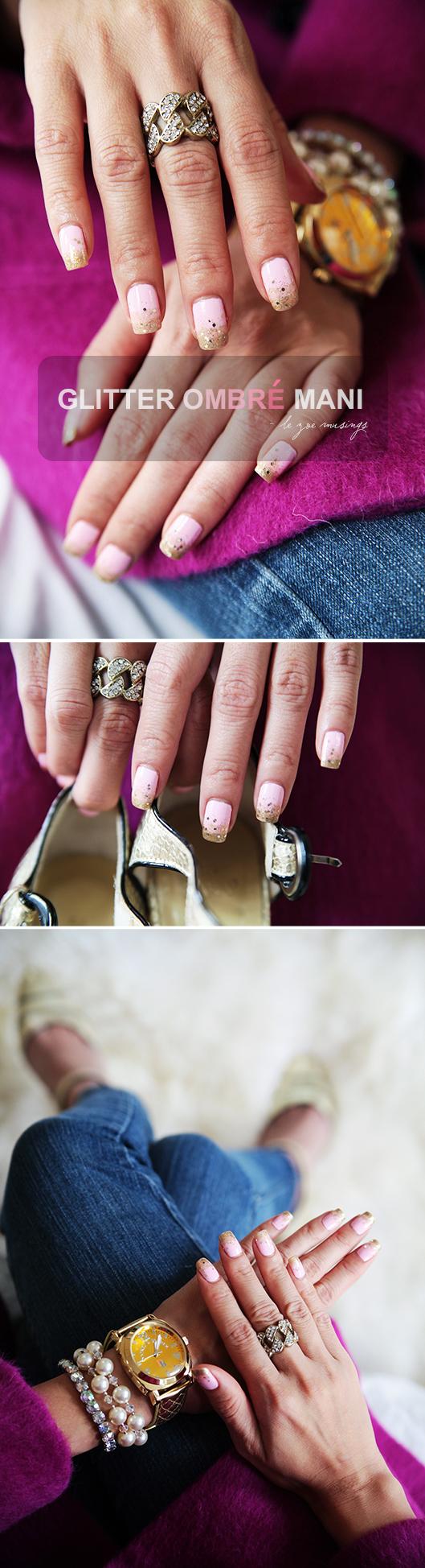 Glitter Ombre Mani by Le Zoe Musings 2