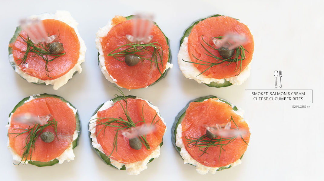 Smoked Salmon + Cream Cheese Cucumber Bites | LE ZOE MUSINGS