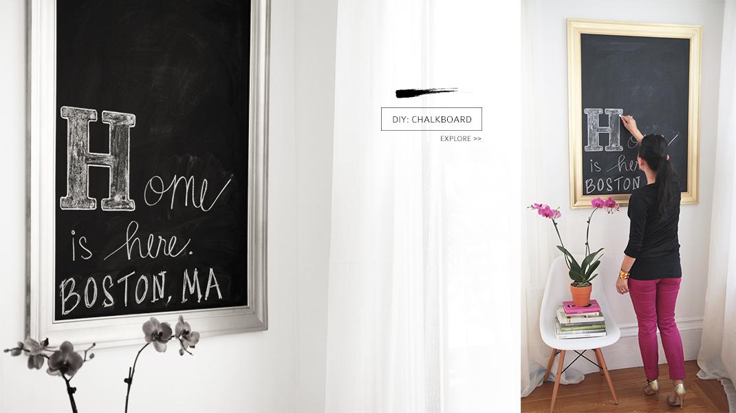 chalkboard banner