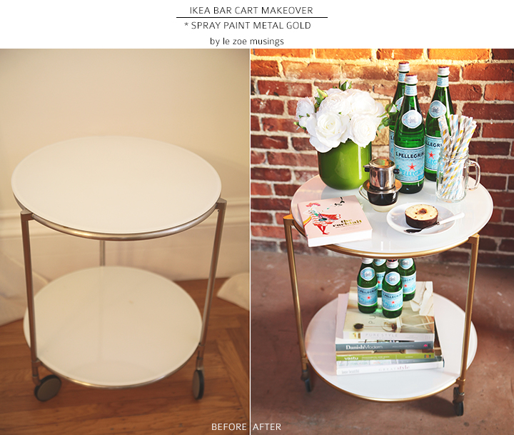 ikea bar cart makeover by le zoe musings