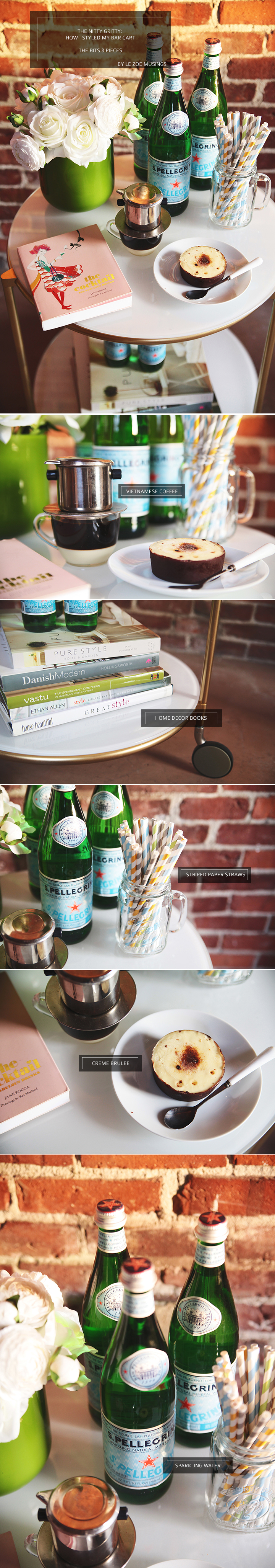 STYLING A BAR CART BY LE ZOE MUSINGS