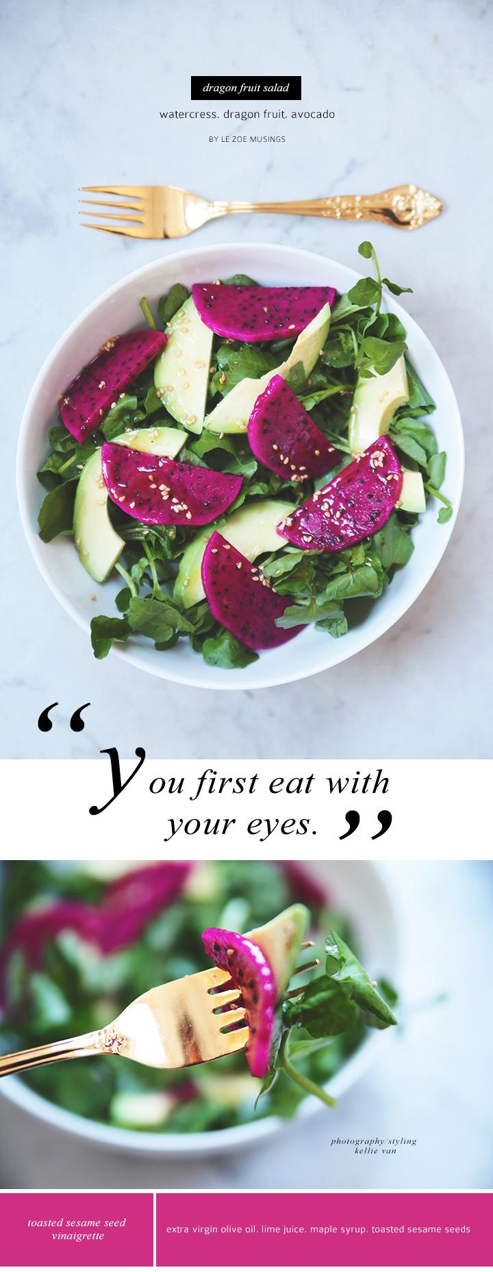 dragon fruit salad by le zoe musings