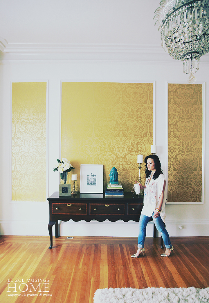 graham + brown 3A wallpaper makeover by le zoe musings