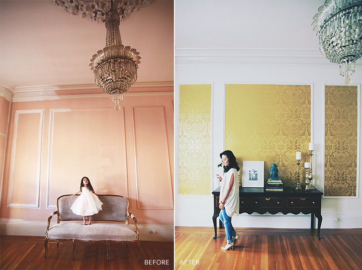 graham + brown wallpaper makeover by le zoe musings before_after