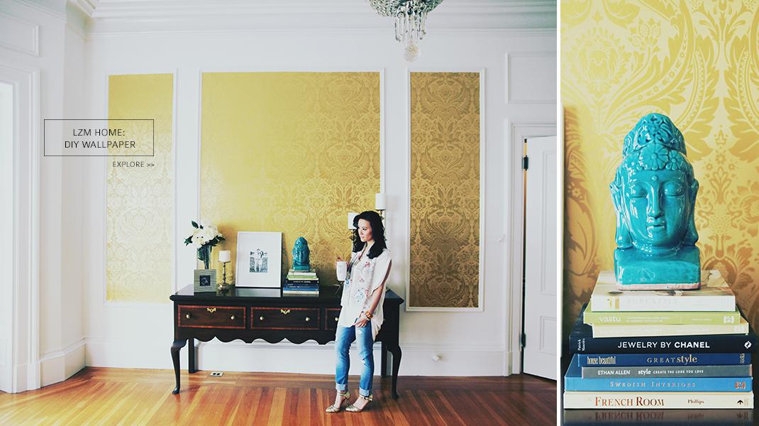 Le Zoe Musings DIY Wallpaper Banner
