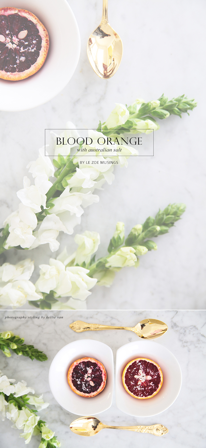 Blood Orange With Australian Salt  by Le Zoe Musings