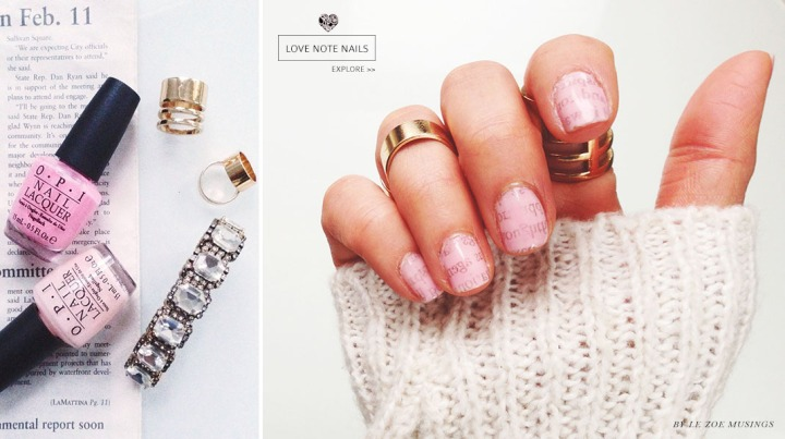 love note nails banner by le zoe musings