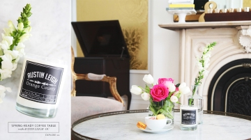 Spring-Ready Coffee Table Banner by Le Zoe Musings