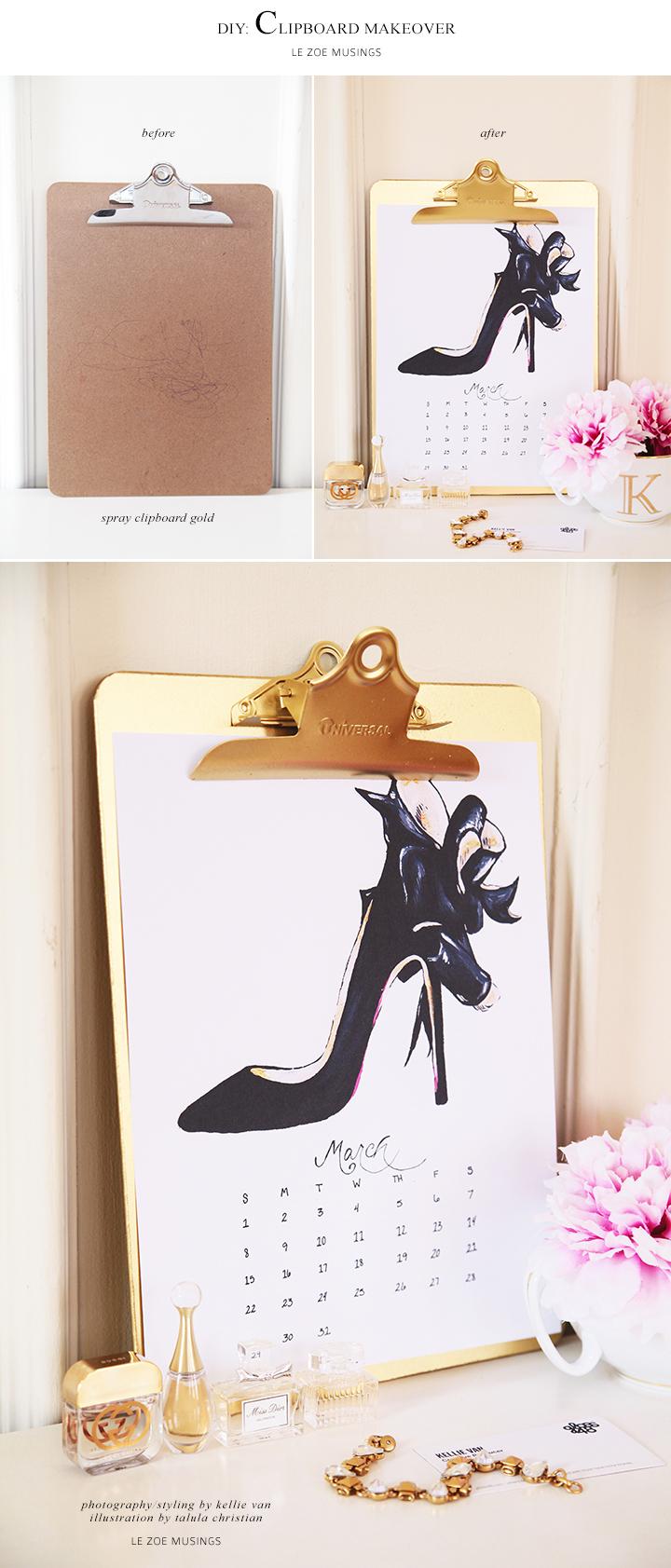 Clipboard Makeover by Kellie Van of Le Zoe Musings