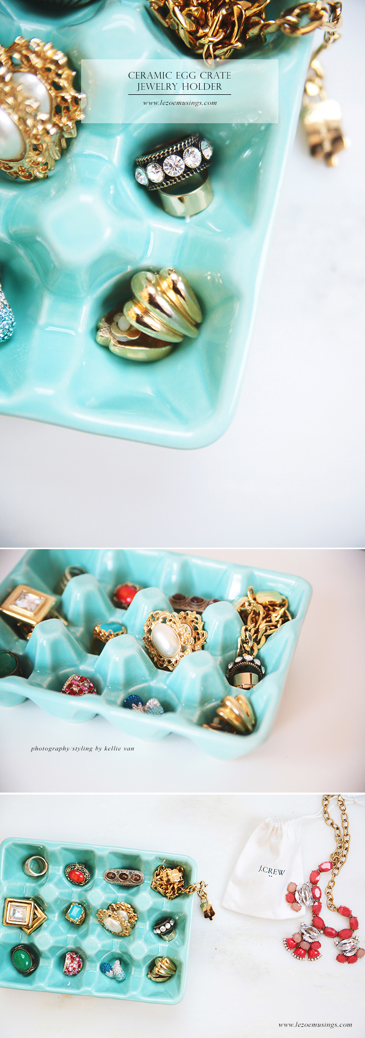 Ceramic Egg Crate Jewelry Holder by Le Zoe Musings 2