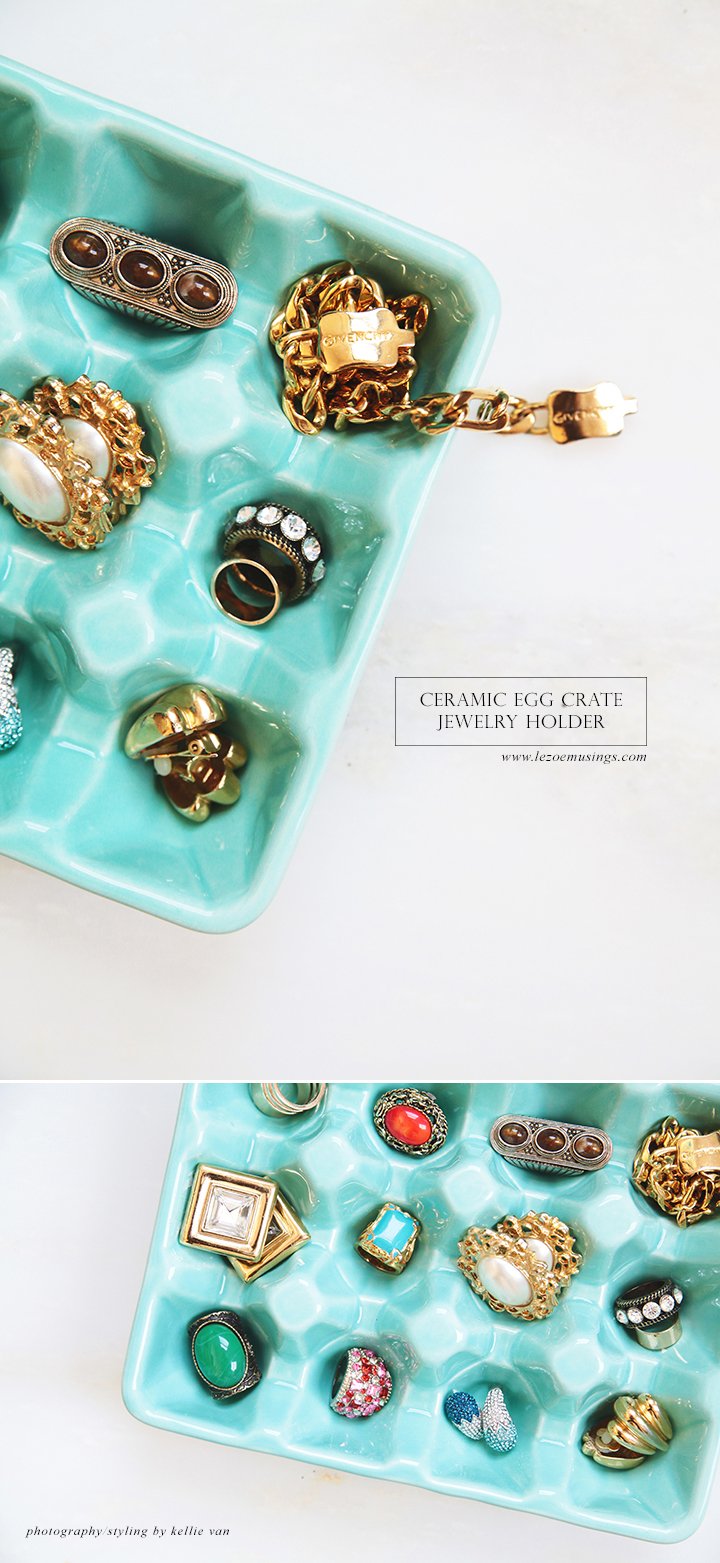 Ceramic Egg Crate Jewelry Holder by Le Zoe Musings