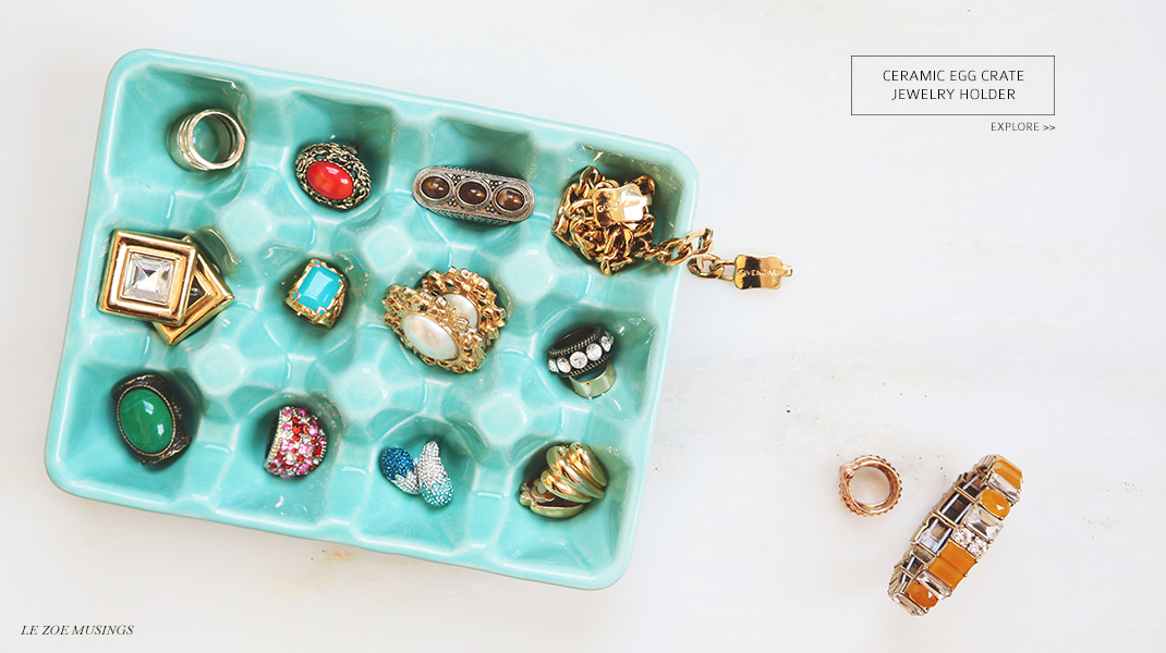 Ceramic Egg Crate Jewelry Holder by Le Zoe Musings_Banner