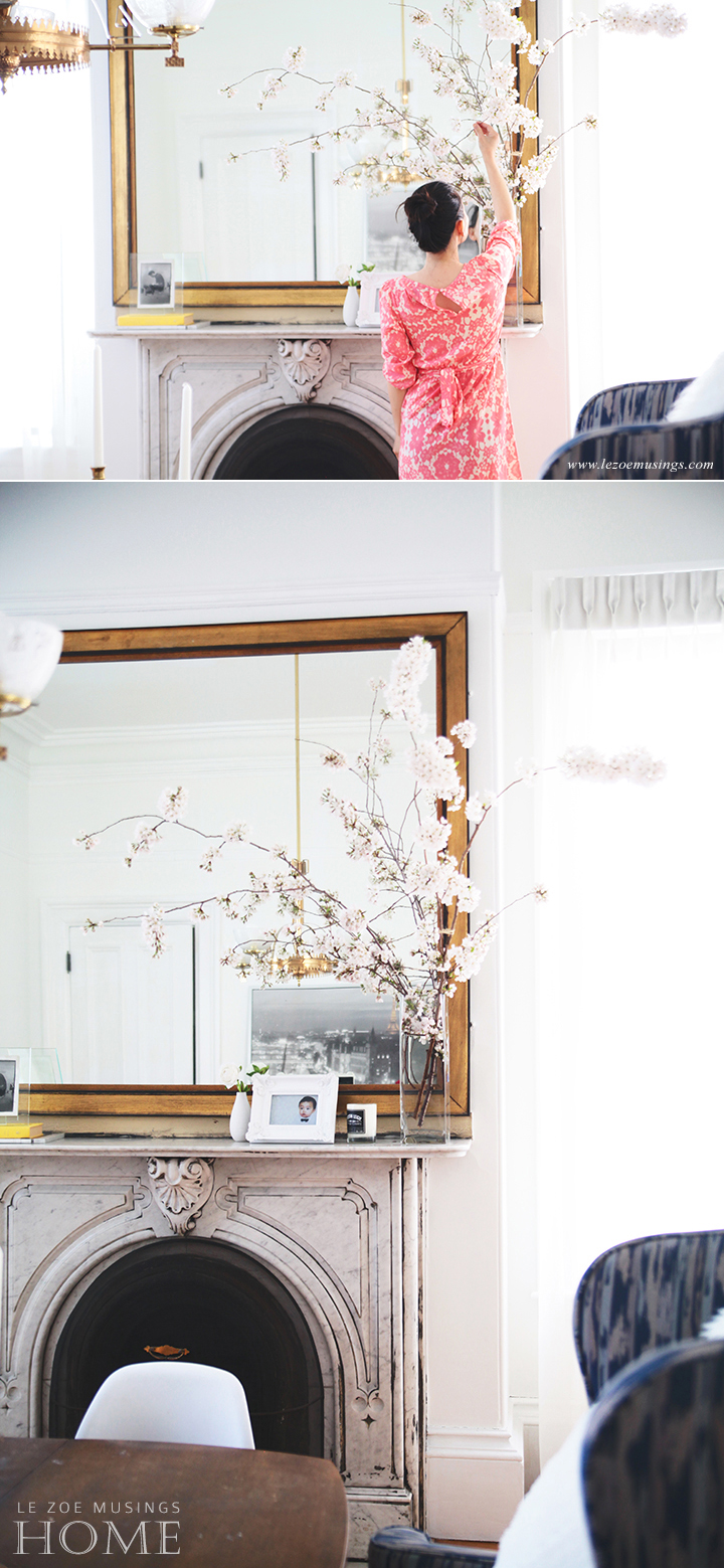 Cherry Blossoms in Dining Room by Le Zoe Musings5