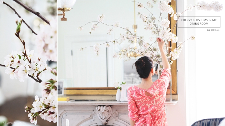 Cherry Blossoms in Dining Room by Le Zoe Musings_bANNER