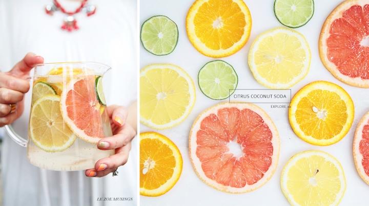 Citrus Coconut Soda_Le Zoe Musings_Banner