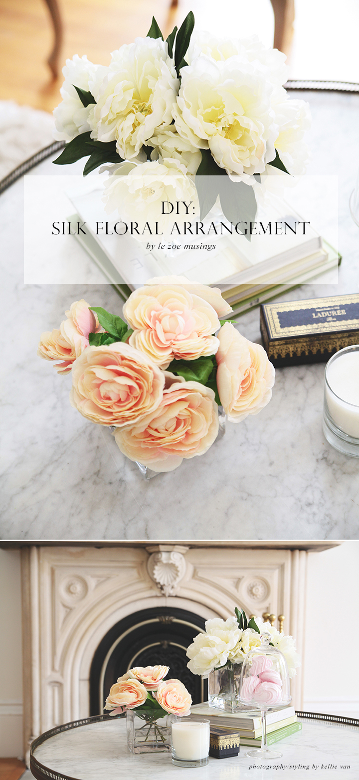 DIY Silk Flower Arrangement by Le Zoe Musings 6
