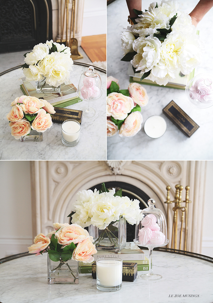 DIY Silk Flower Arrangement by Le Zoe Musings 7