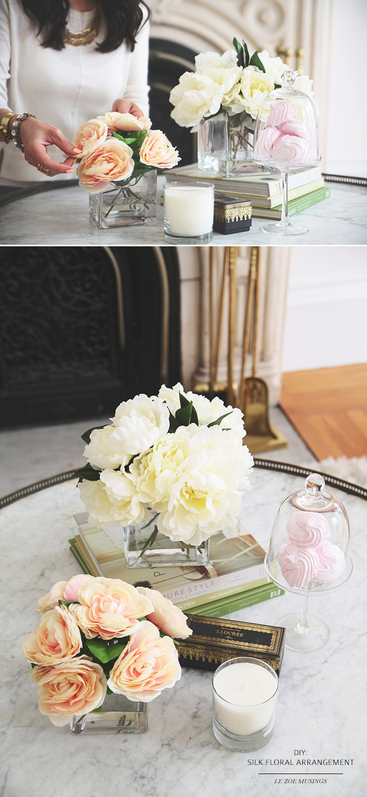 DIY Silk Flower Arrangement by Le Zoe Musings 8