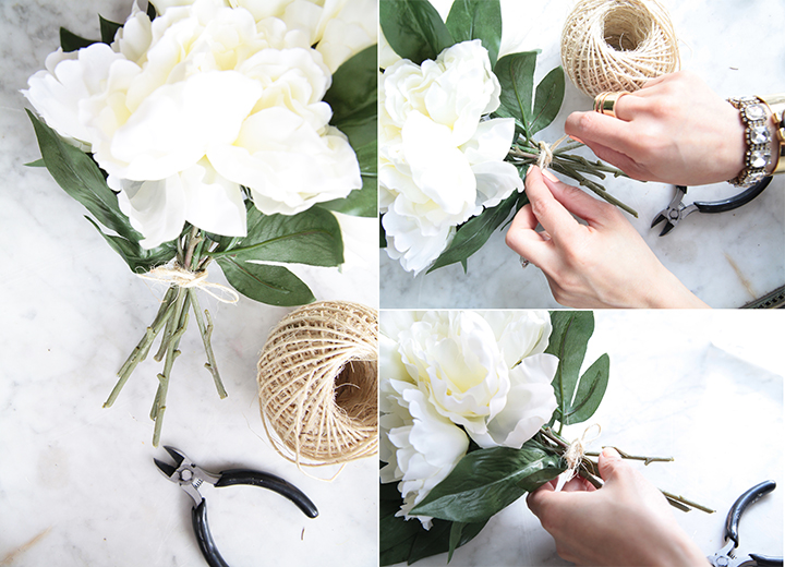DIY Silk Flower Arrangement by Le Zoe Musings 911