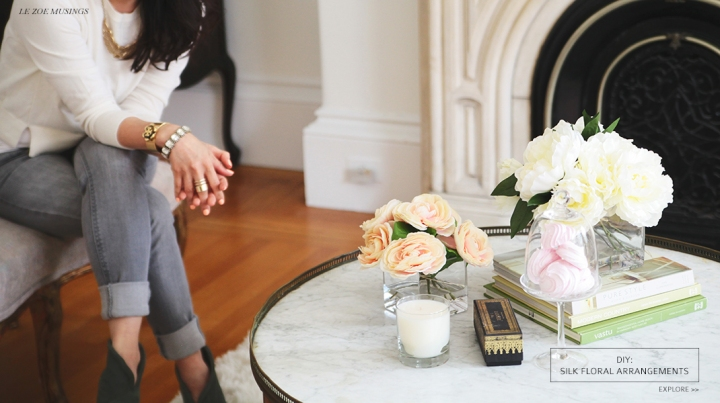 DIY Silk Flower Arrangement by Le Zoe Musings_Banner
