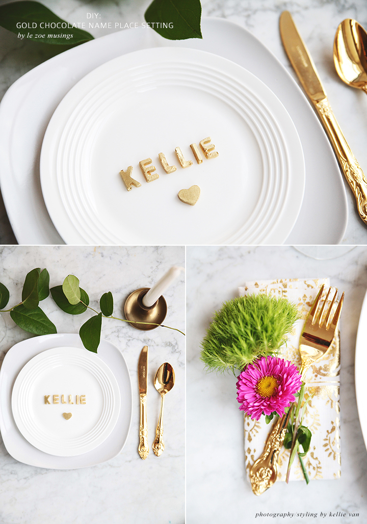 GOLD CHOCOLATE NAME PLACE SETTING_LE ZOE MUSINGS 3