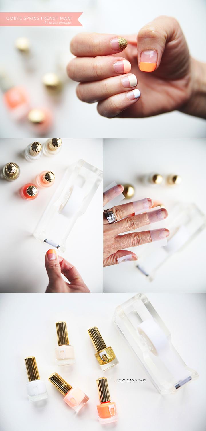 Ombre Spring French Mani_Le Zoe Musings