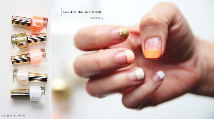 Ombre Spring French Mani_Le Zoe Musings_Banner