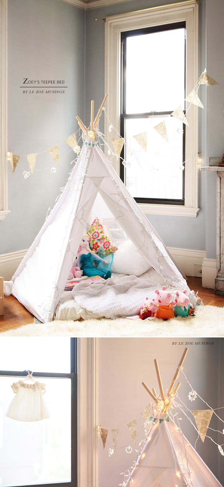 Kid's room teepee by Le Zoe Musings 3