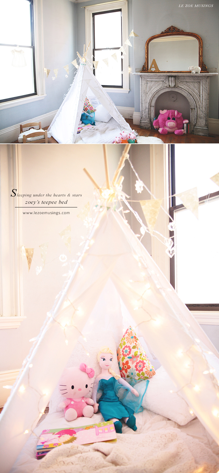 Kid's room teepee by Le Zoe Musings 4