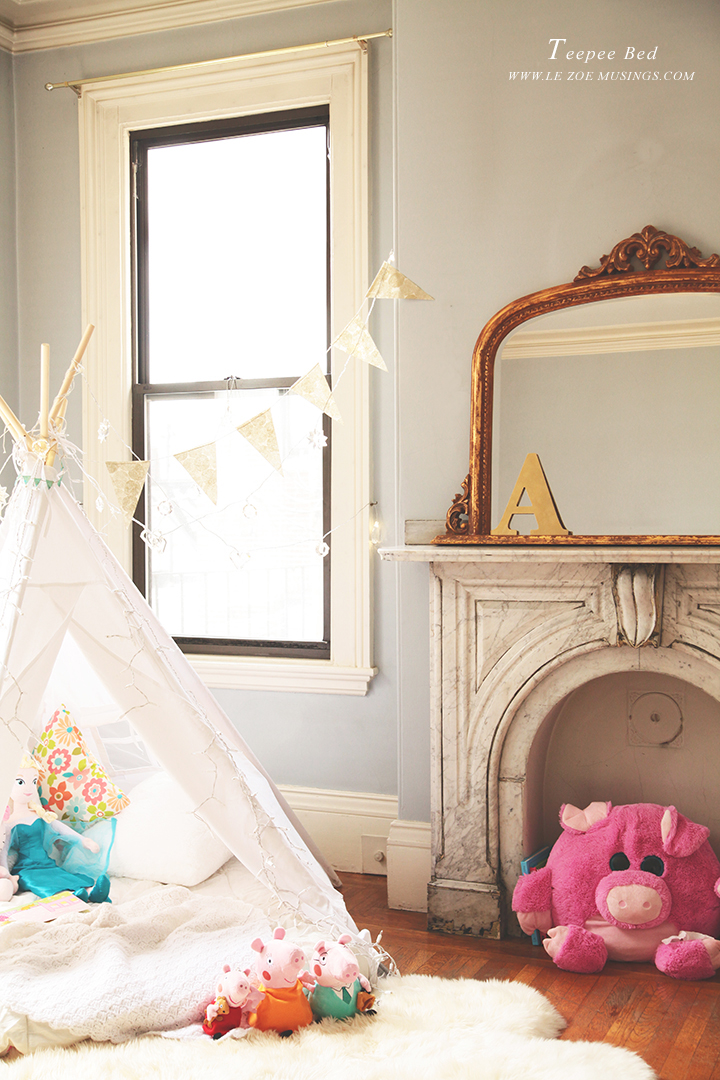 Kid's room teepee by Le Zoe Musings 7