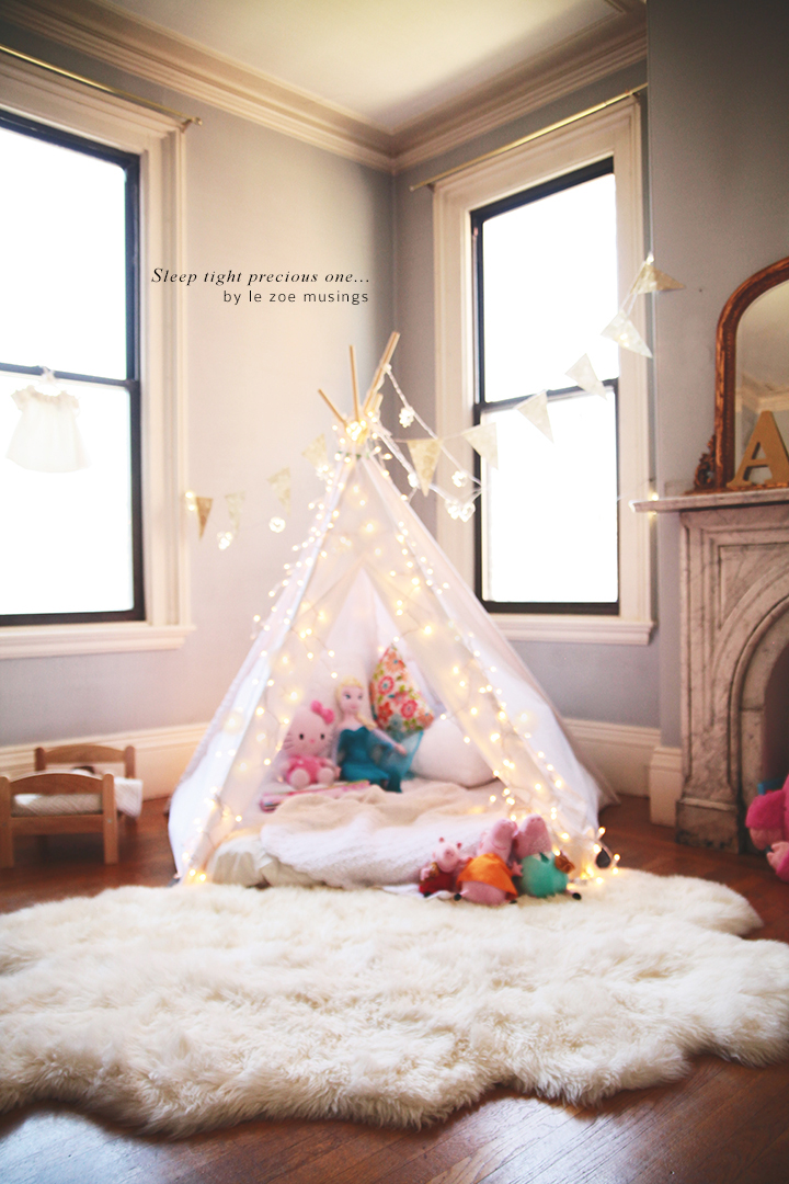 Kid's room teepee by Le Zoe Musings 8
