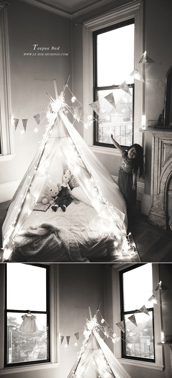 Kid's room teepee by Le Zoe Musings 91