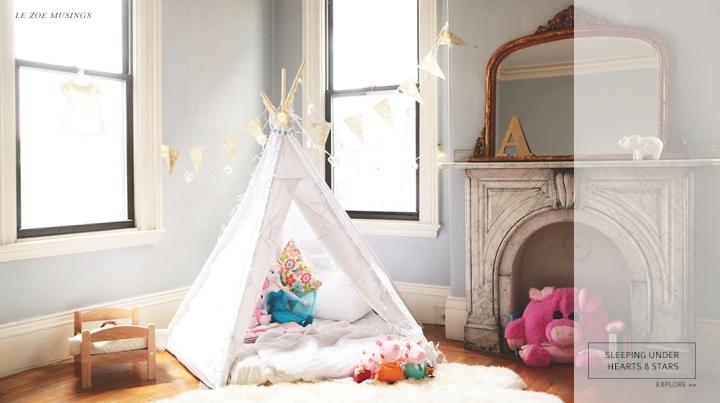 Kid's room teepee by Le Zoe Musings Banner