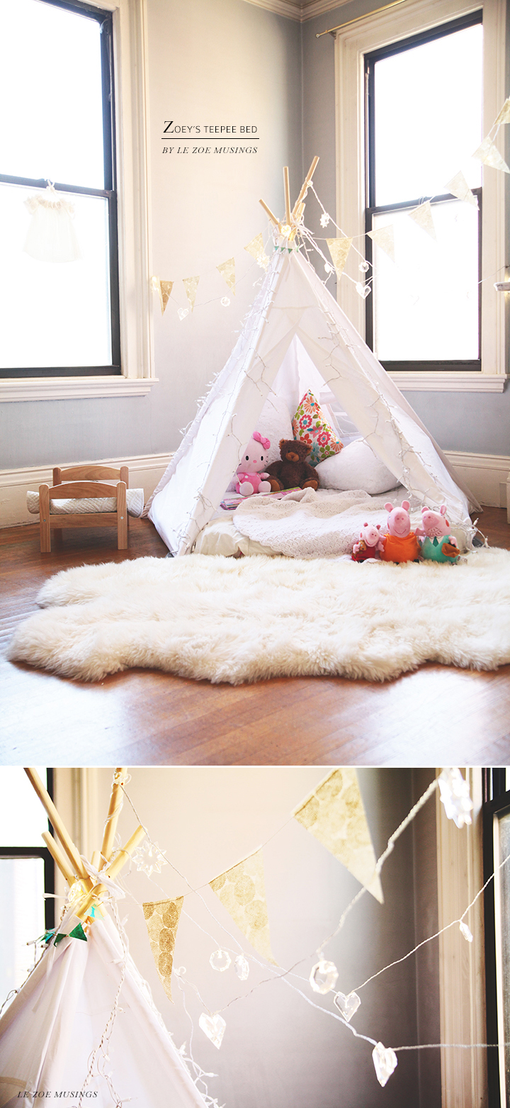 Kid's room teepee by Le Zoe Musings