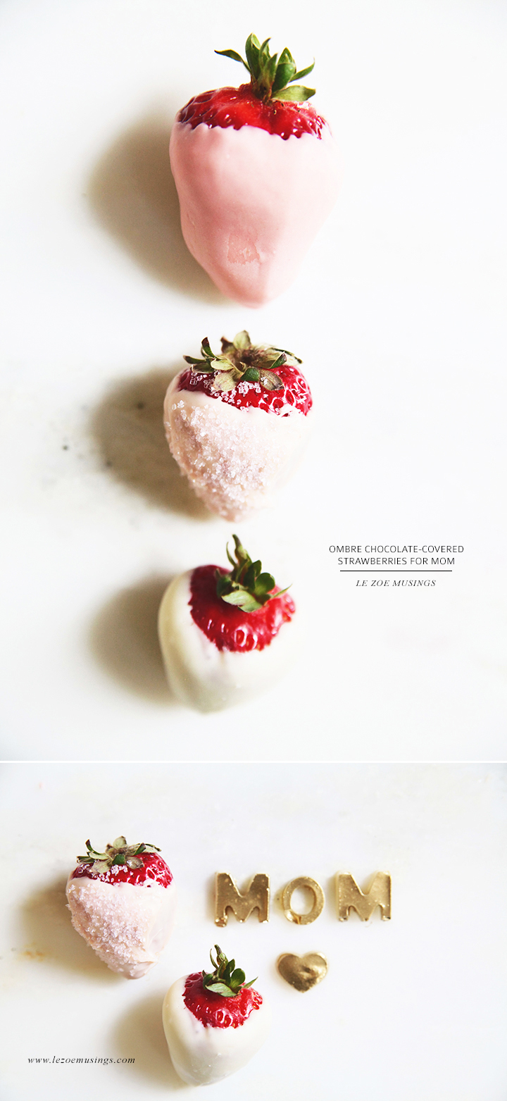 Ombre Strawberry for Mom by Le Zoe Musings