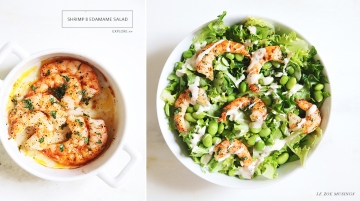 Shrimp and Edamame Salad by Le Zoe Musings Banner