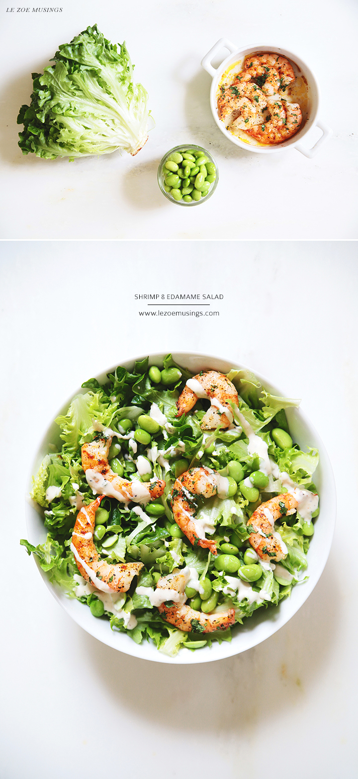 Shrimp and Edamame Salad by Le Zoe Musings